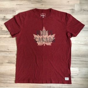 Roots Canada Maroon T Shirt Size Small